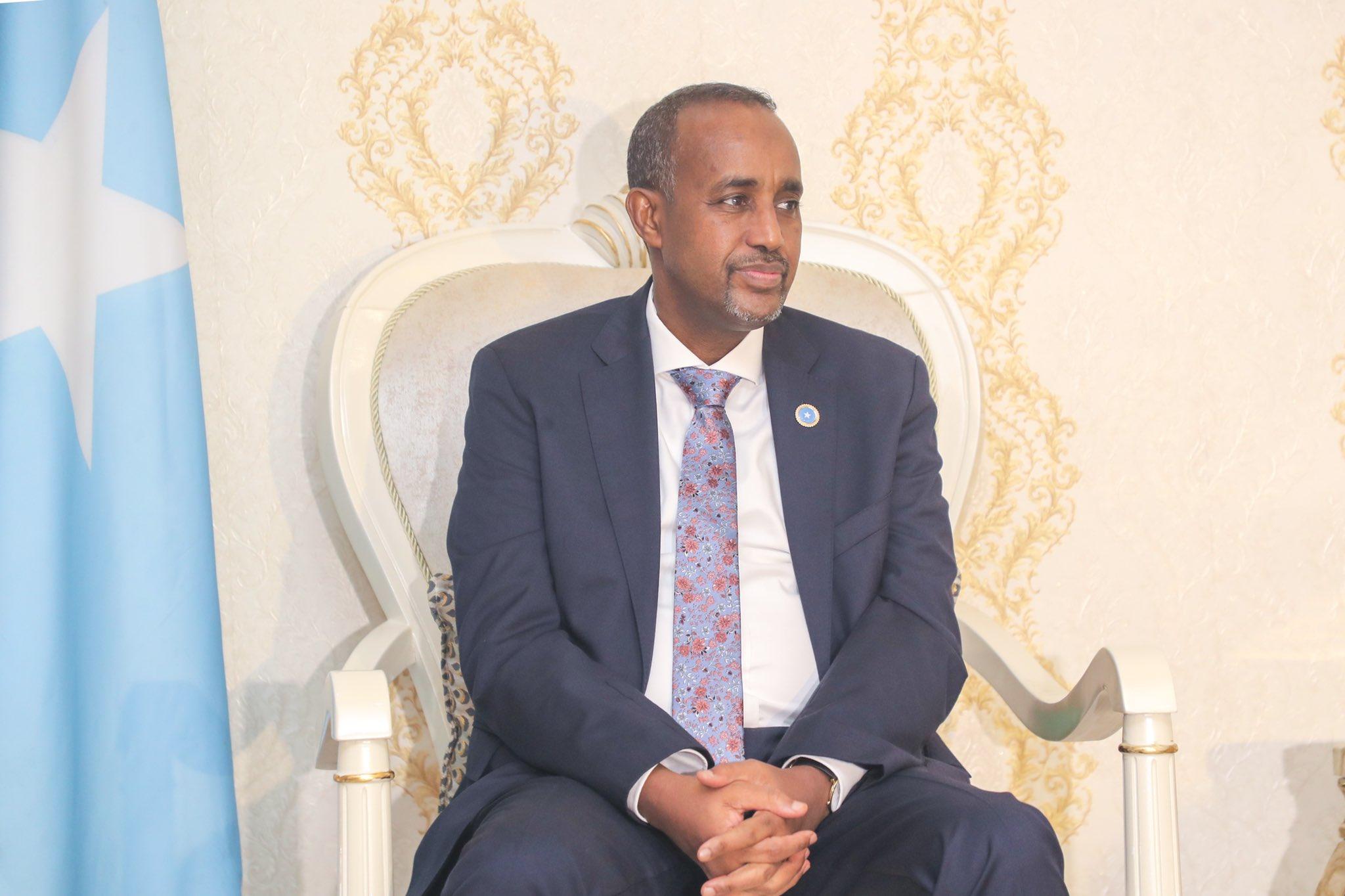 Somali Prime Minister Mohamed Hussein Roble.