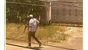 An unidentified gunman opens fire outside the French Embassy in Tanzania. PHOTO| COURTESY